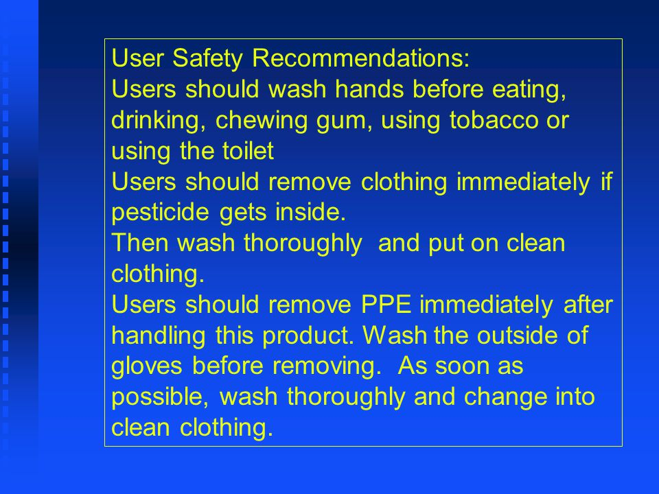 User Safety Recommendations:
