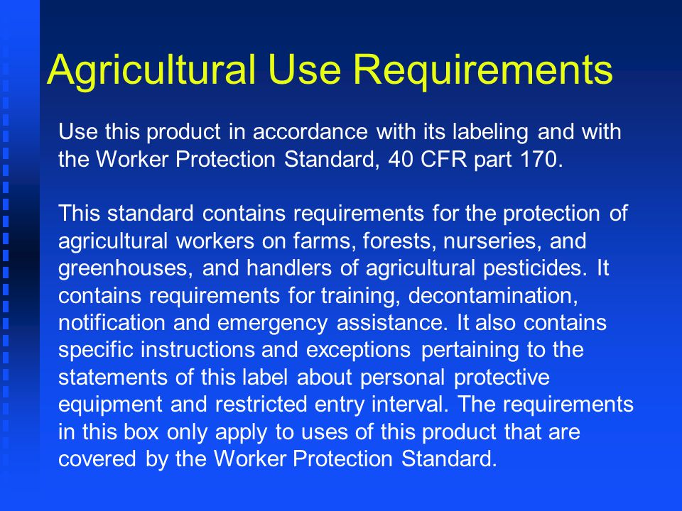 Agricultural Use Requirements