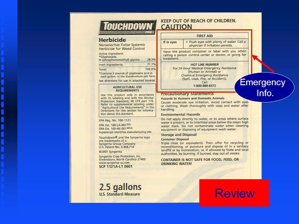 Review Emergency. Info.