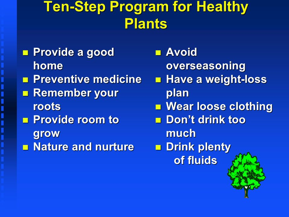Ten-Step Program for Healthy Plants