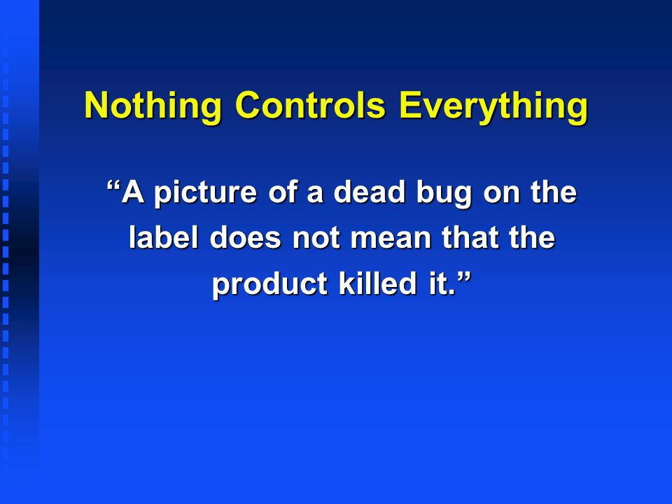 Nothing Controls Everything