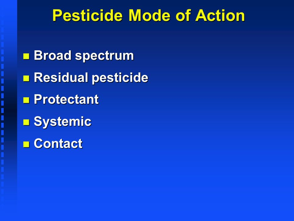 Pesticide Mode of Action