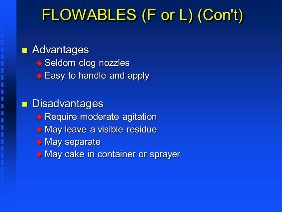 FLOWABLES (F or L) (Con t)