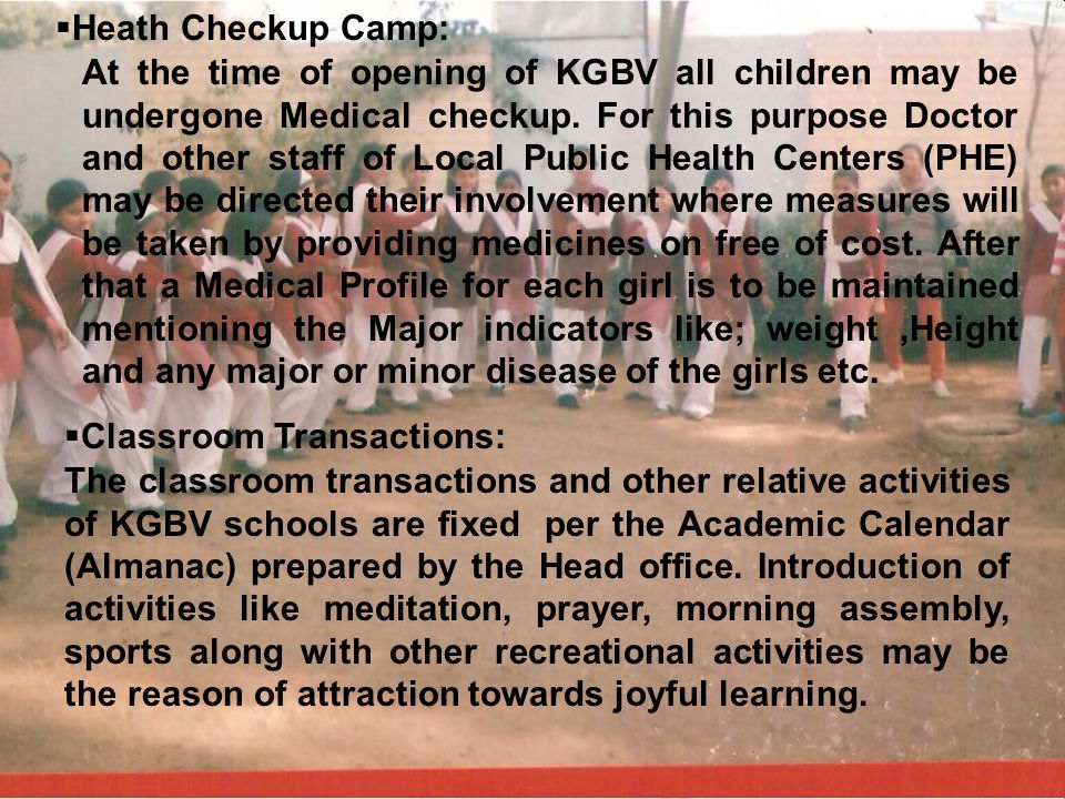 Heath Checkup Camp: i.