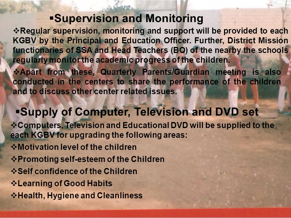Supervision and Monitoring