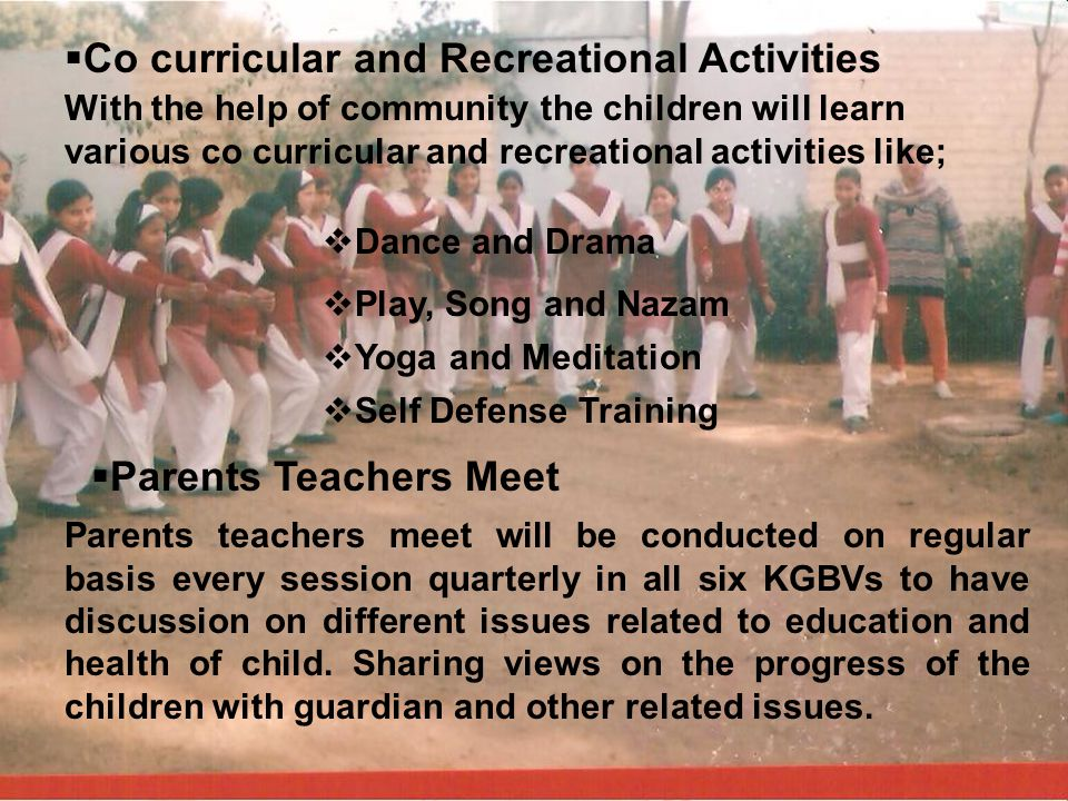 Co curricular and Recreational Activities
