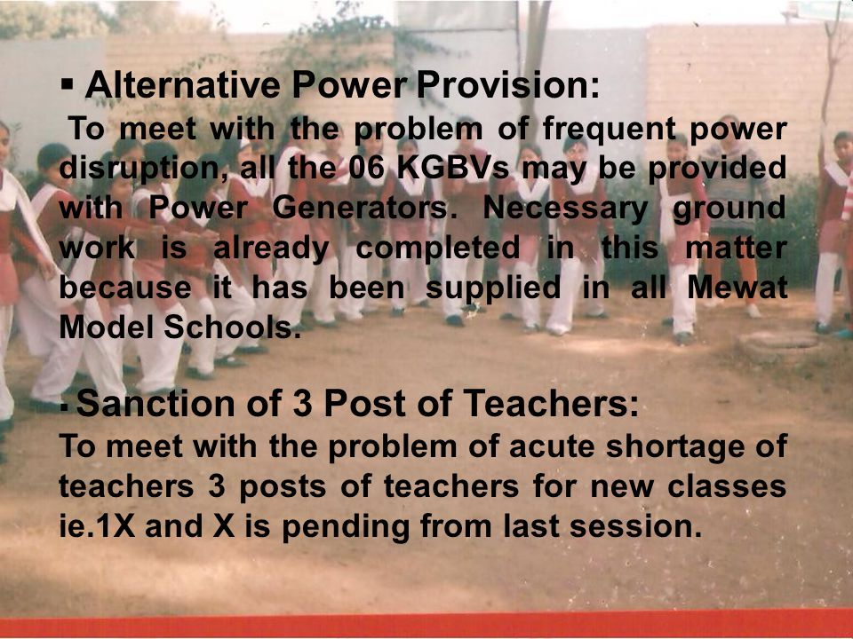 Alternative Power Provision: