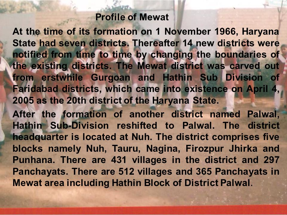 Profile of Mewat