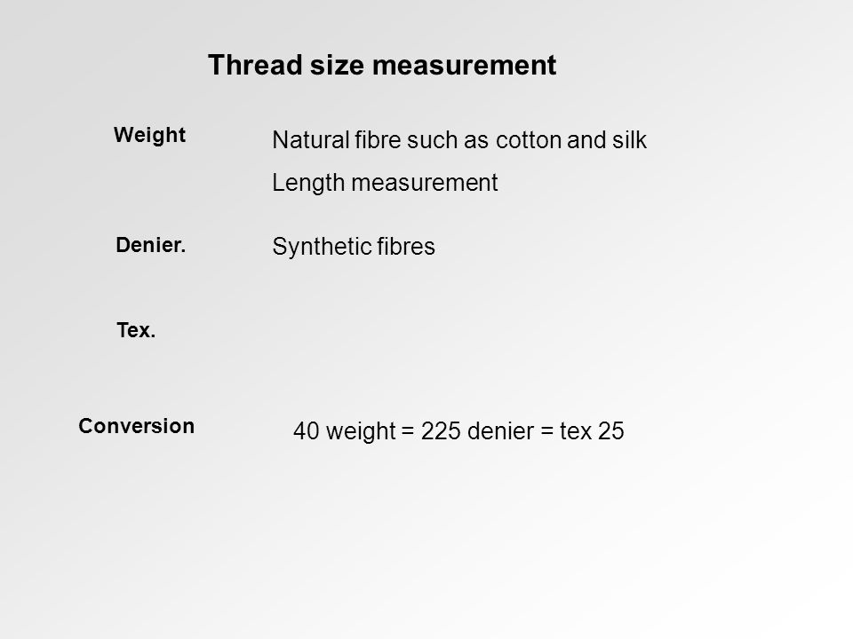 Thread size measurement