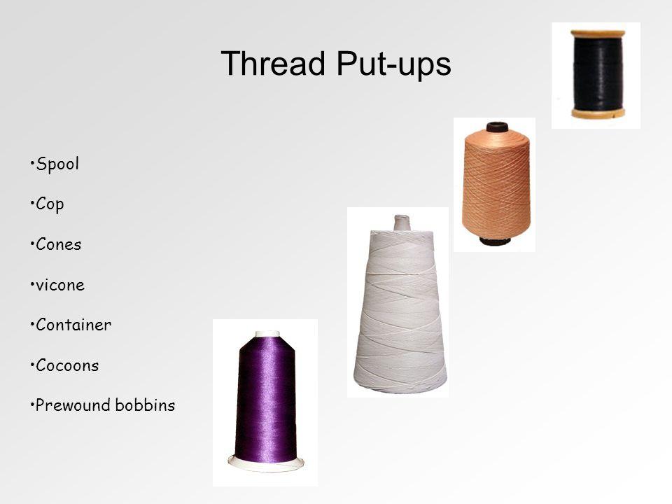 Thread Put-ups Spool Cop Cones vicone Container Cocoons