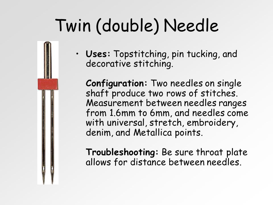 Twin (double) Needle