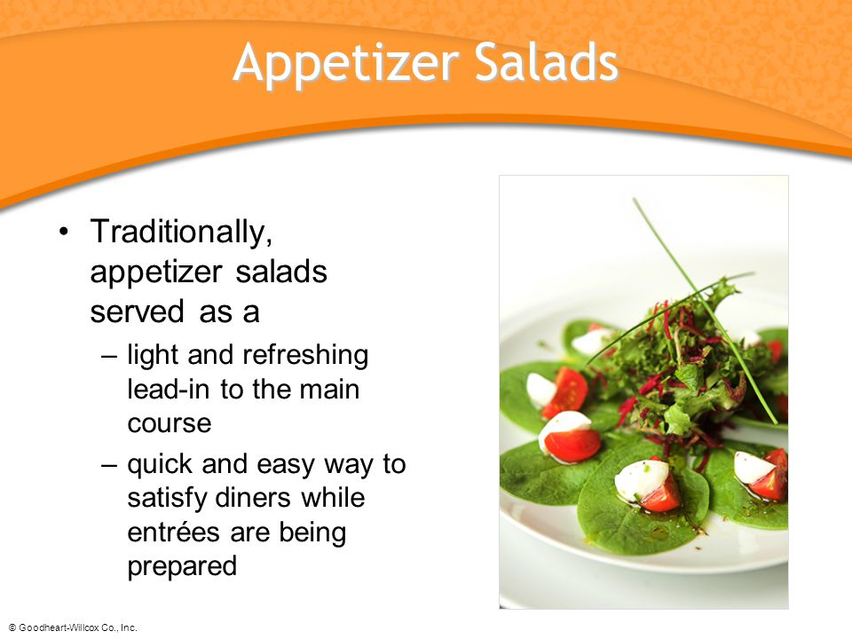 5 Appetizer Salads Traditionally