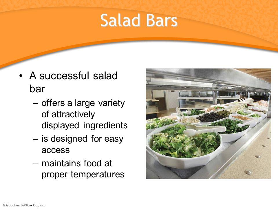Salad Bars A successful salad bar