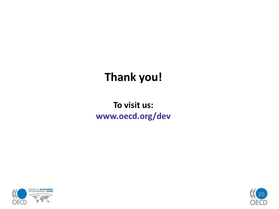 Thank you! To visit us: www.oecd.org/dev