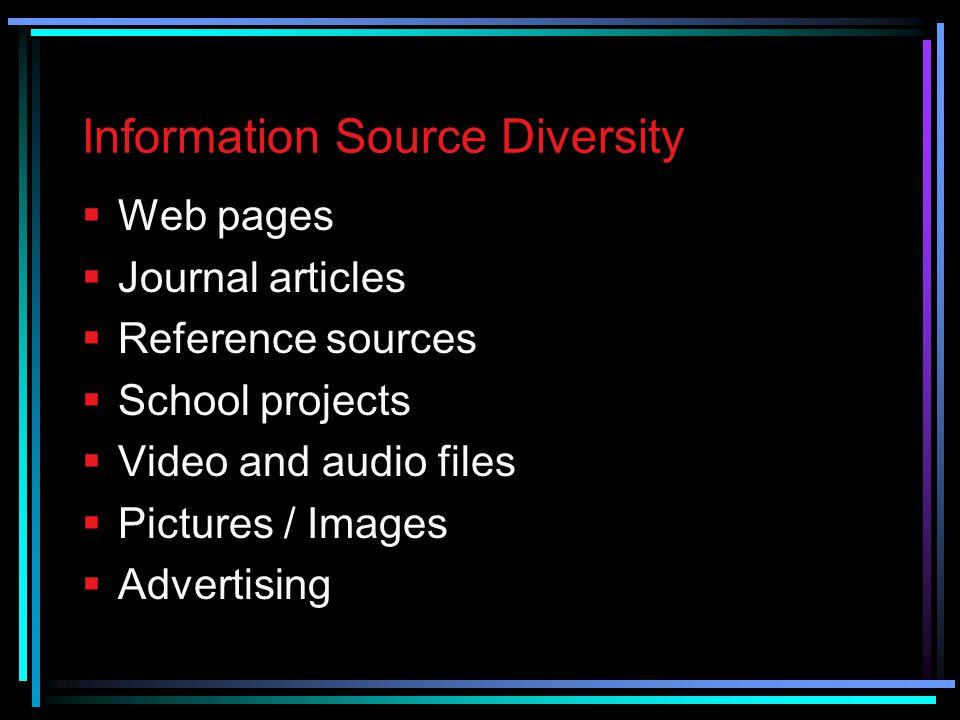 Information Source Diversity