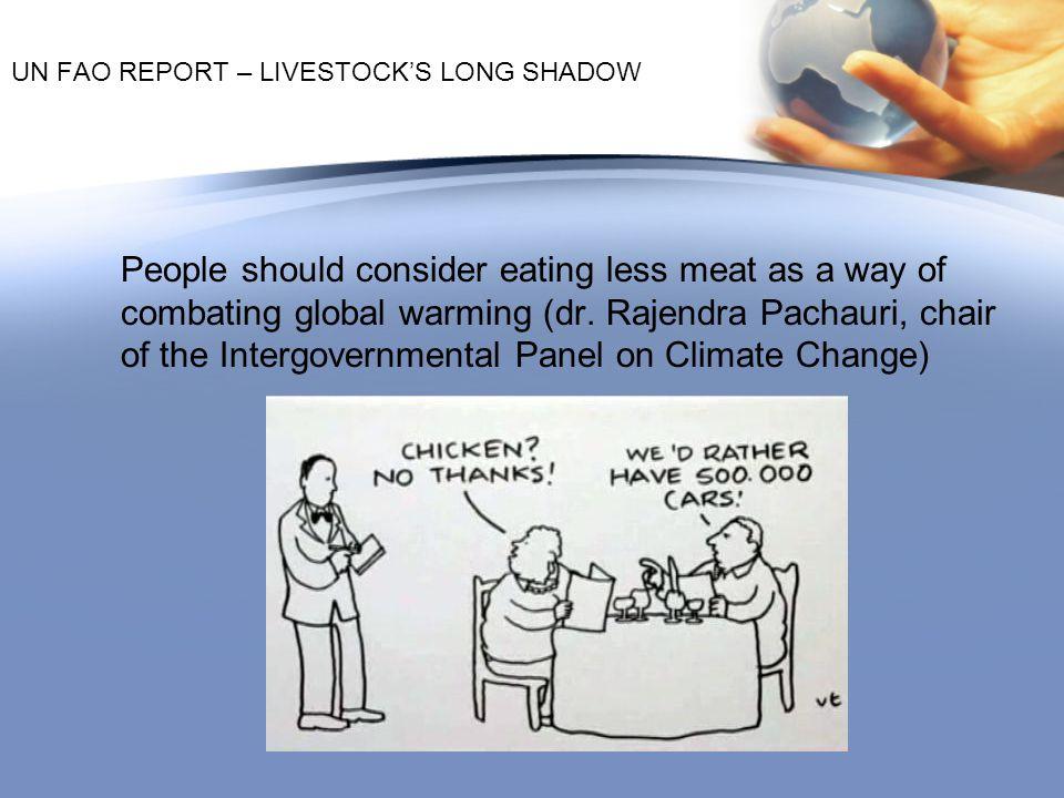 UN FAO REPORT – LIVESTOCK'S LONG SHADOW