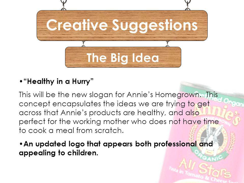 Creative Suggestions The Big Idea Healthy in a Hurry