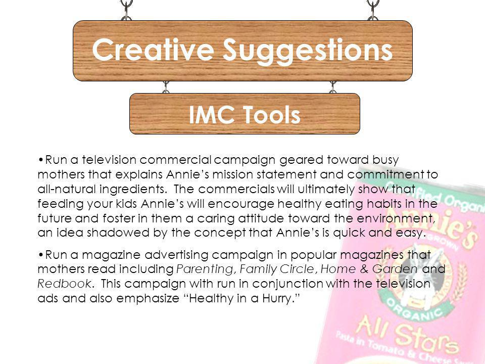 Creative Suggestions IMC Tools