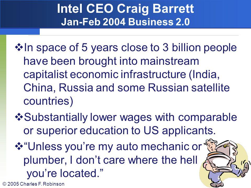 Intel CEO Craig Barrett Jan-Feb 2004 Business 2.0