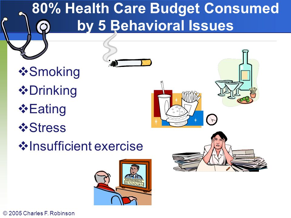 80% Health Care Budget Consumed by 5 Behavioral Issues
