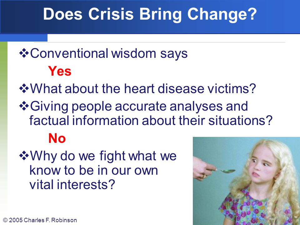 Does Crisis Bring Change
