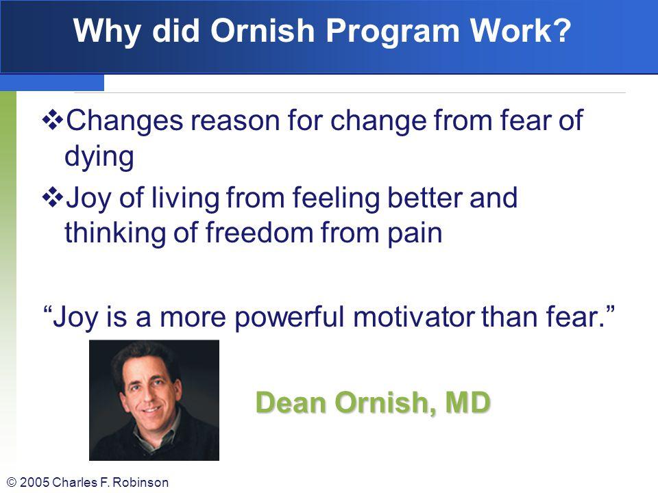 Why did Ornish Program Work