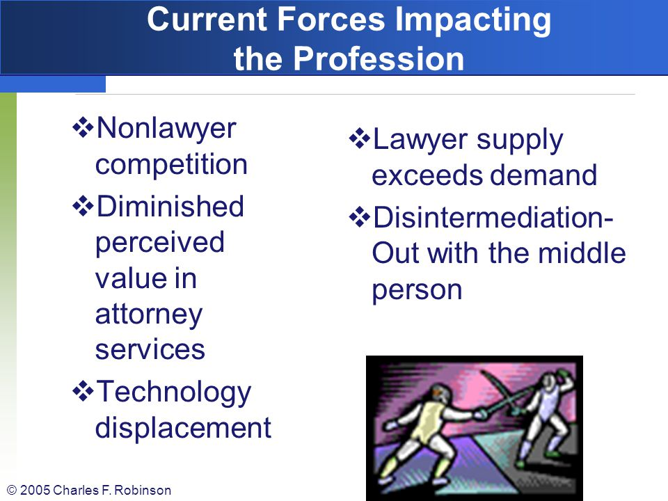 Current Forces Impacting the Profession