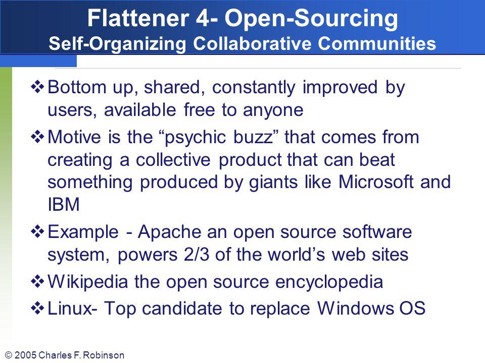 Flattener 4- Open-Sourcing Self-Organizing Collaborative Communities