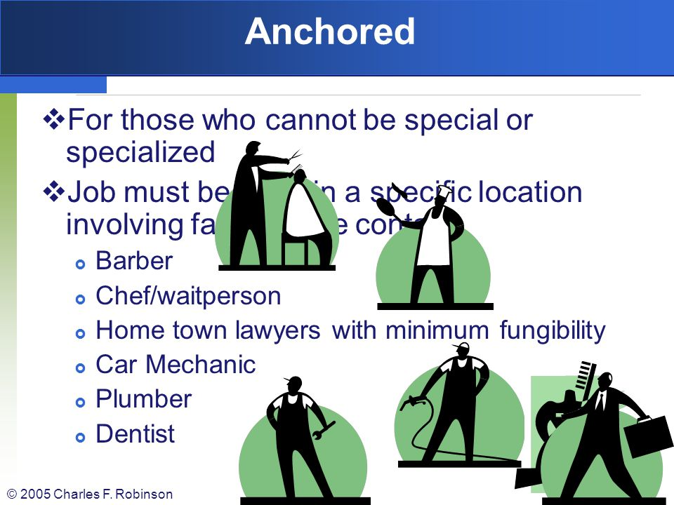 Anchored For those who cannot be special or specialized