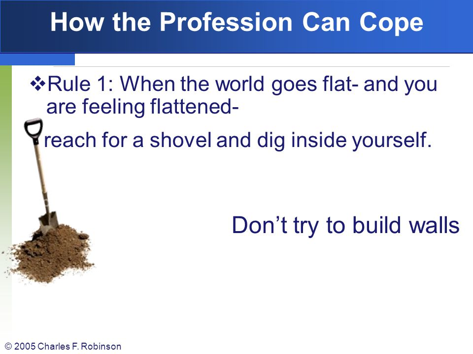 How the Profession Can Cope