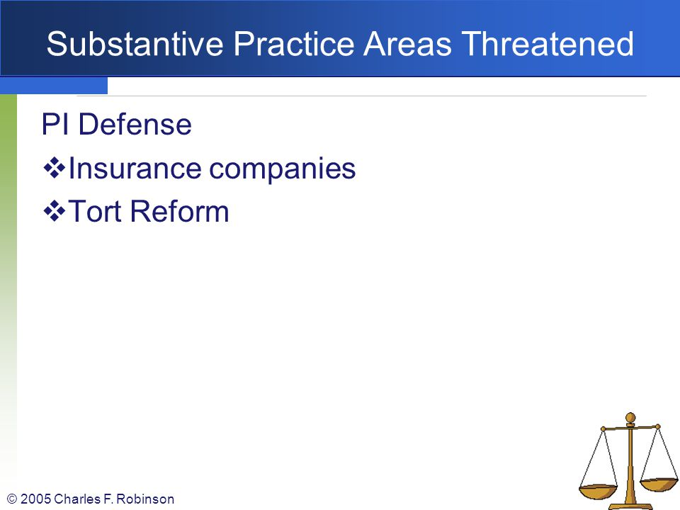 Substantive Practice Areas Threatened