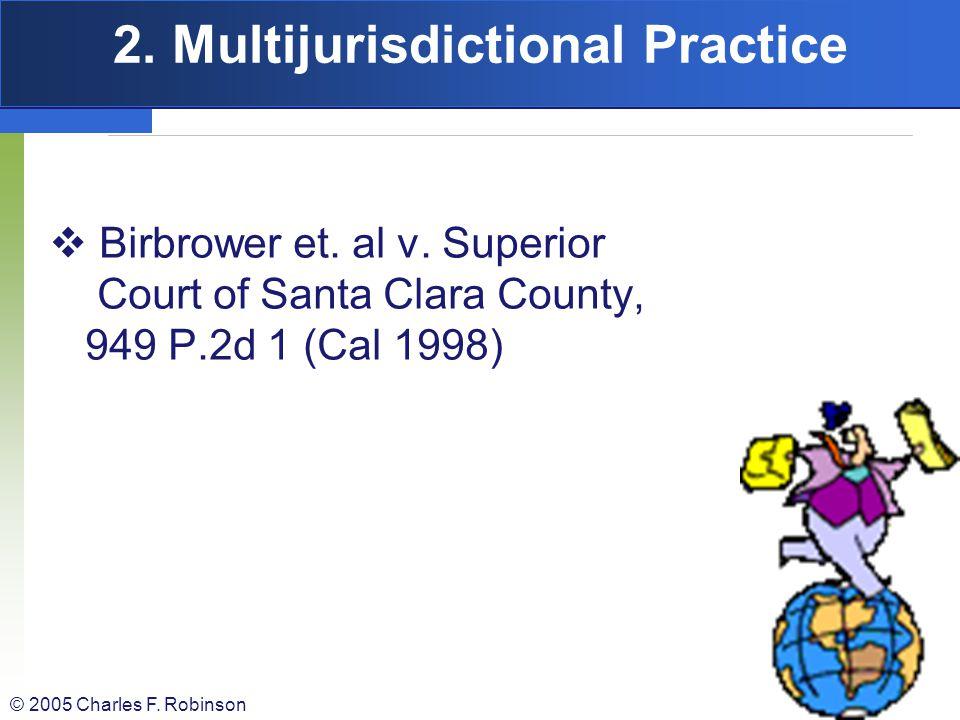 2. Multijurisdictional Practice