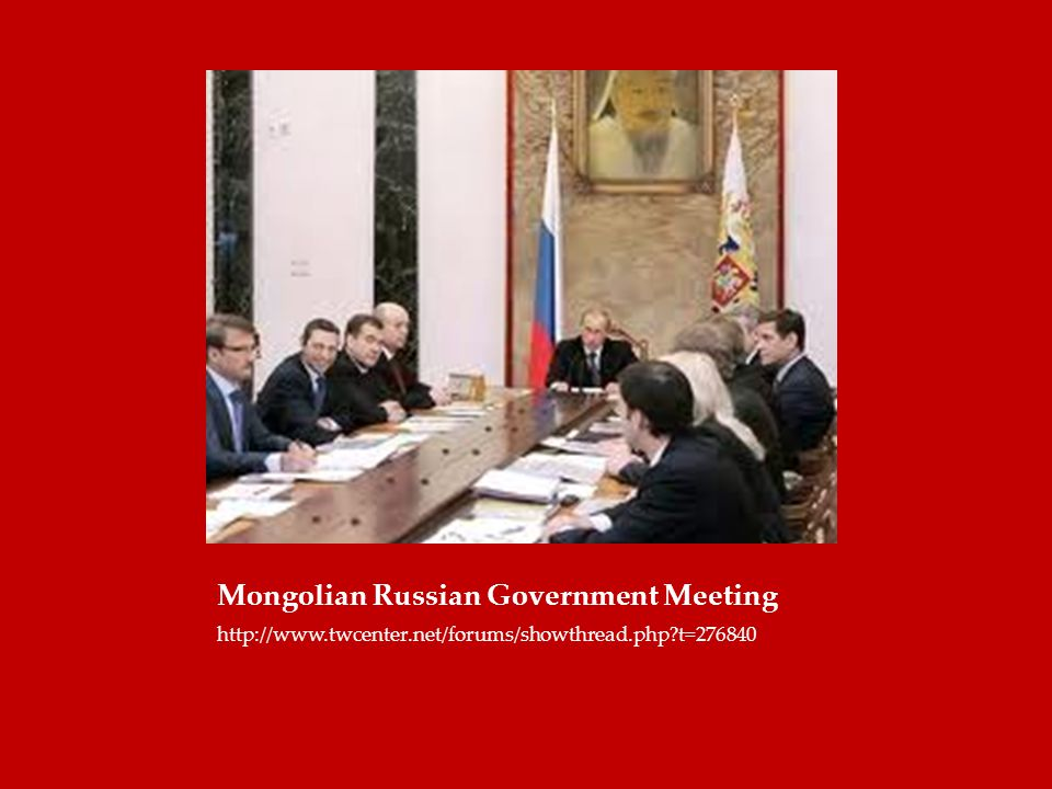 Mongolian Russian Government Meeting