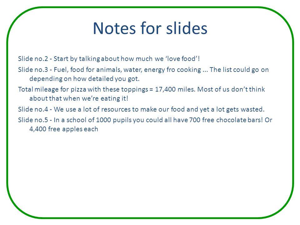 Notes for slides