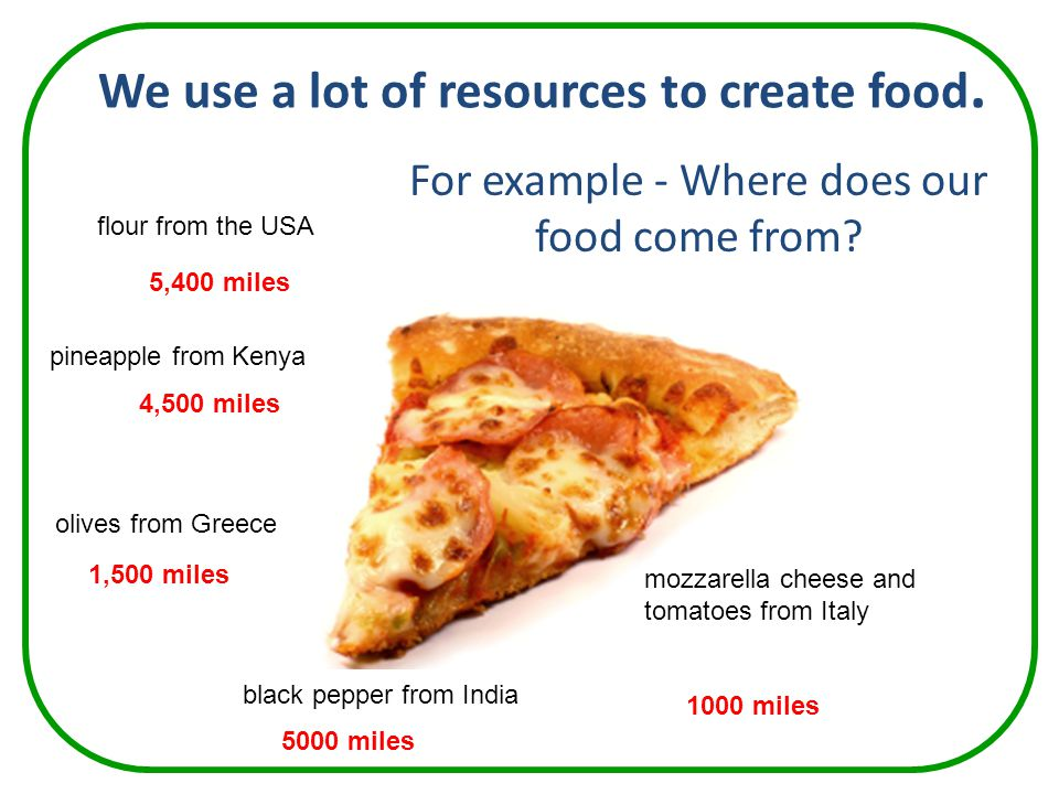 We use a lot of resources to create food.