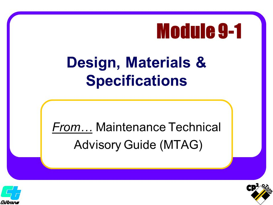 Design, Materials & Specifications
