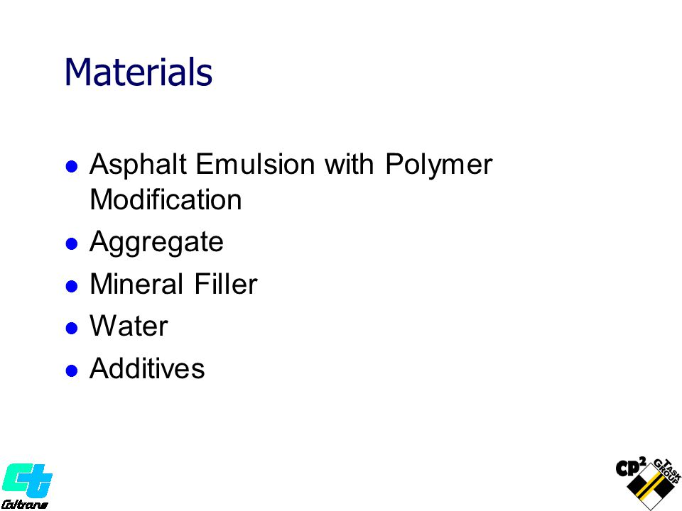 Materials Asphalt Emulsion with Polymer Modification Aggregate