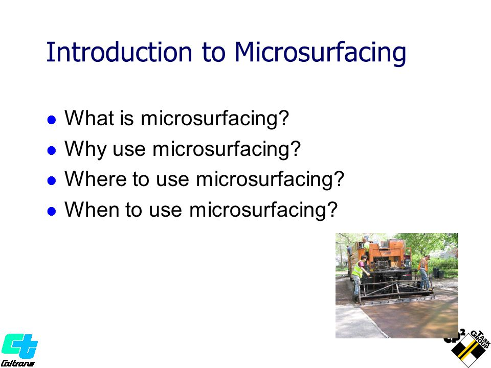 Introduction to Microsurfacing