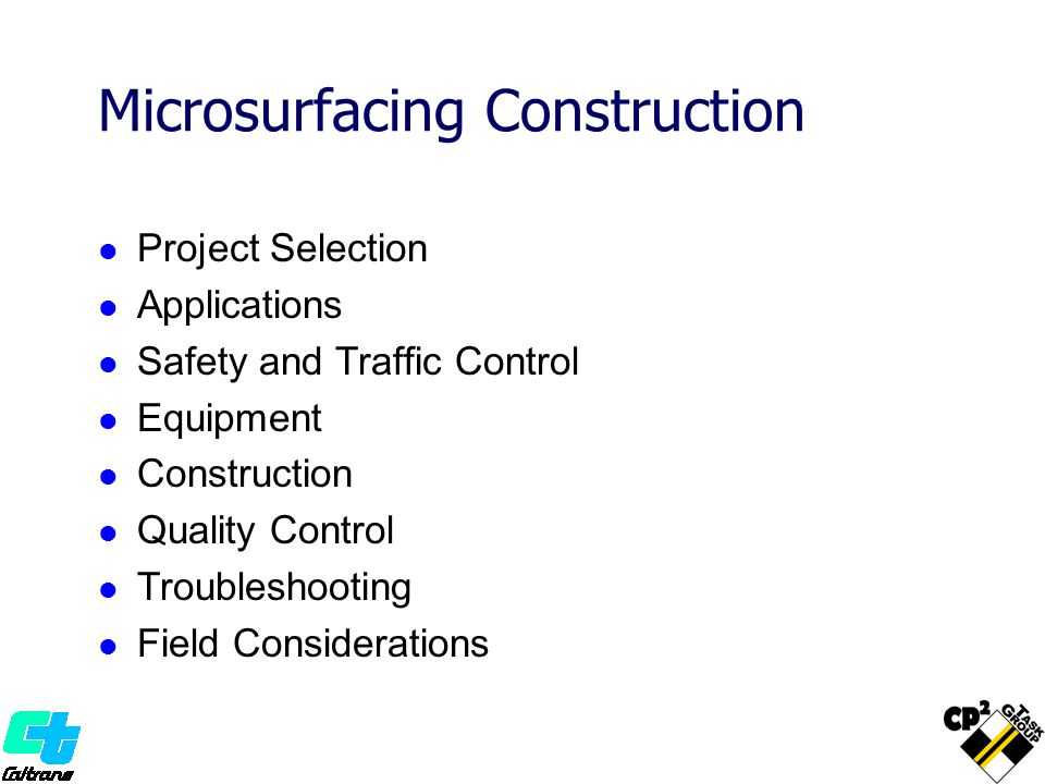 Microsurfacing Construction