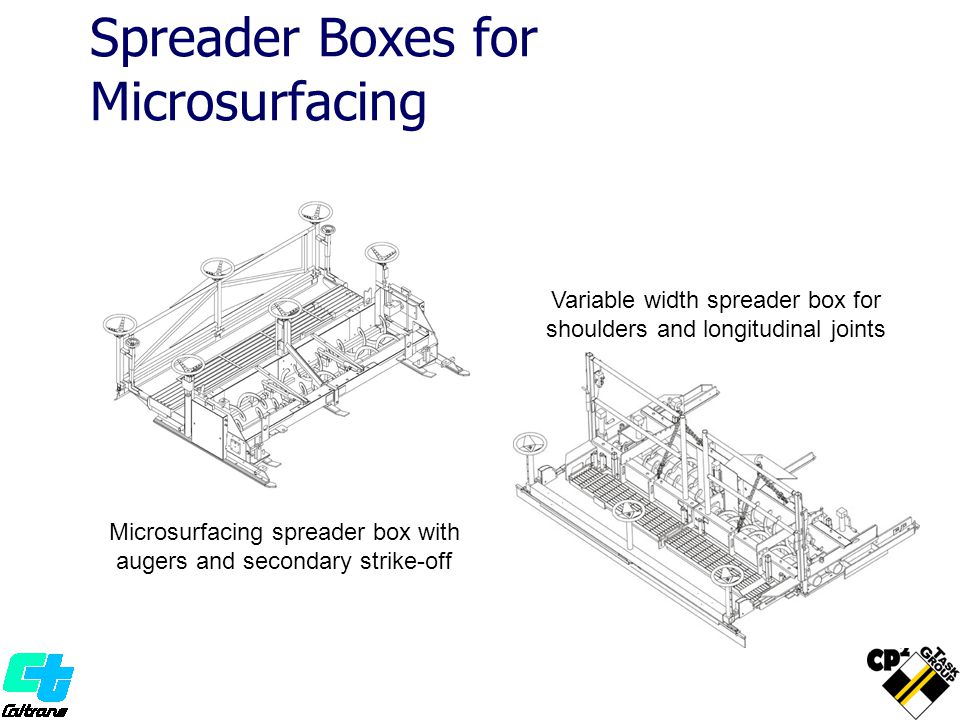 Spreader Boxes for Microsurfacing