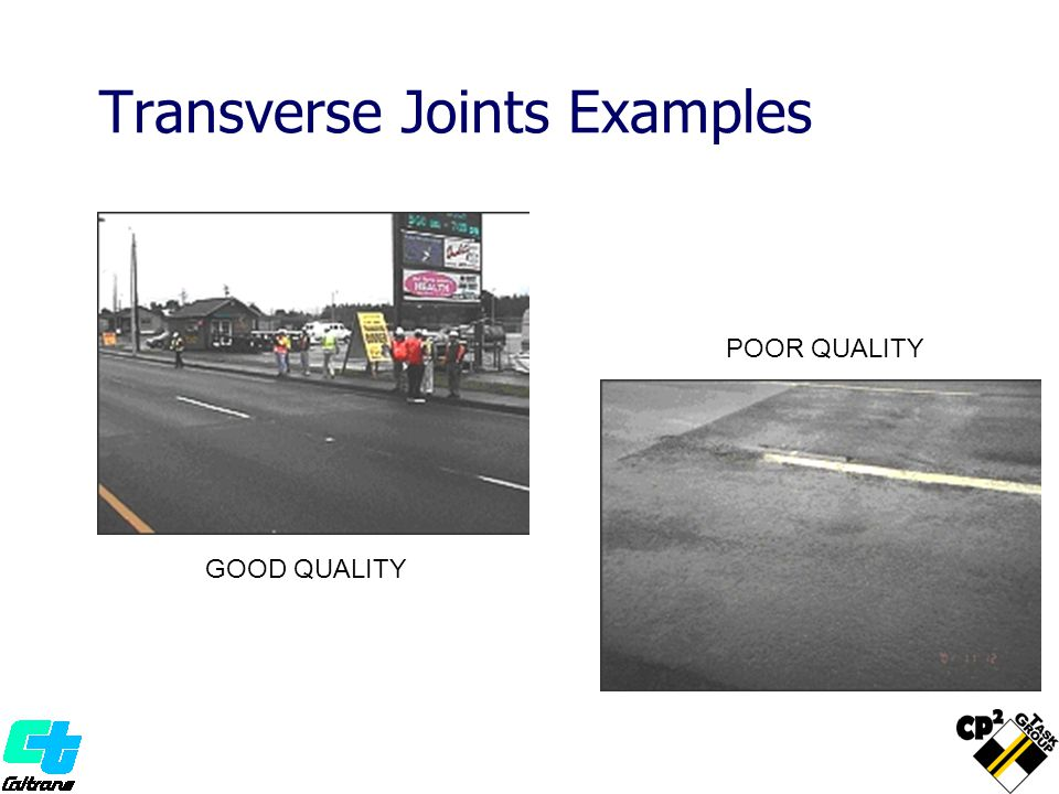 Transverse Joints Examples