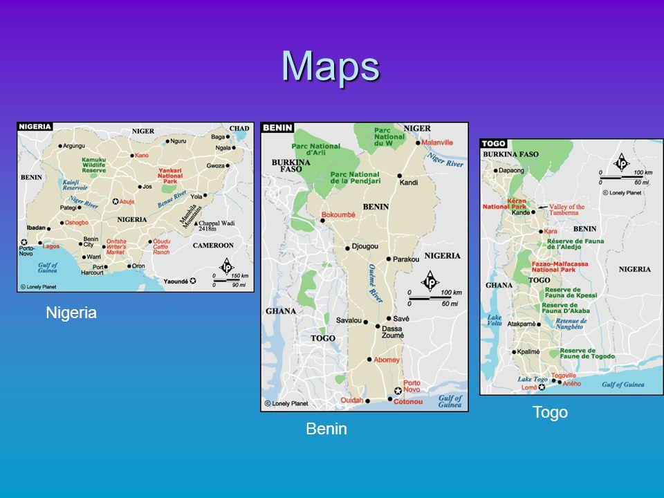 Maps Nigeria Togo Benin