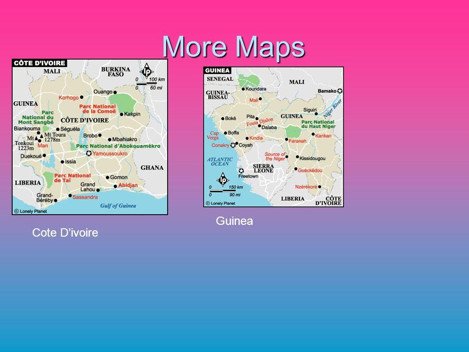More Maps Guinea Cote D'ivoire