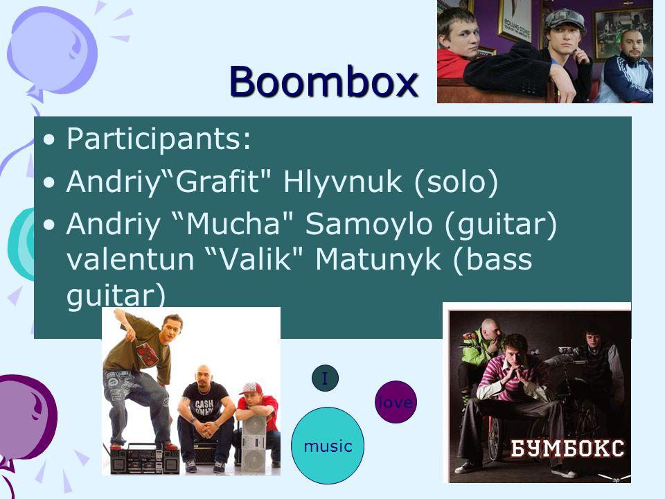 Boombox Participants: Andriy Grafit Hlyvnuk (solo)
