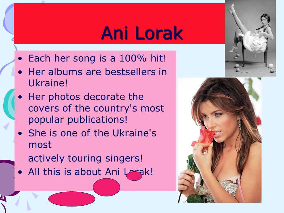 Ani Lorak Each her song is a 100% hit!