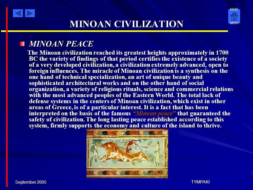 MINOAN CIVILIZATION MINOAN PEACE