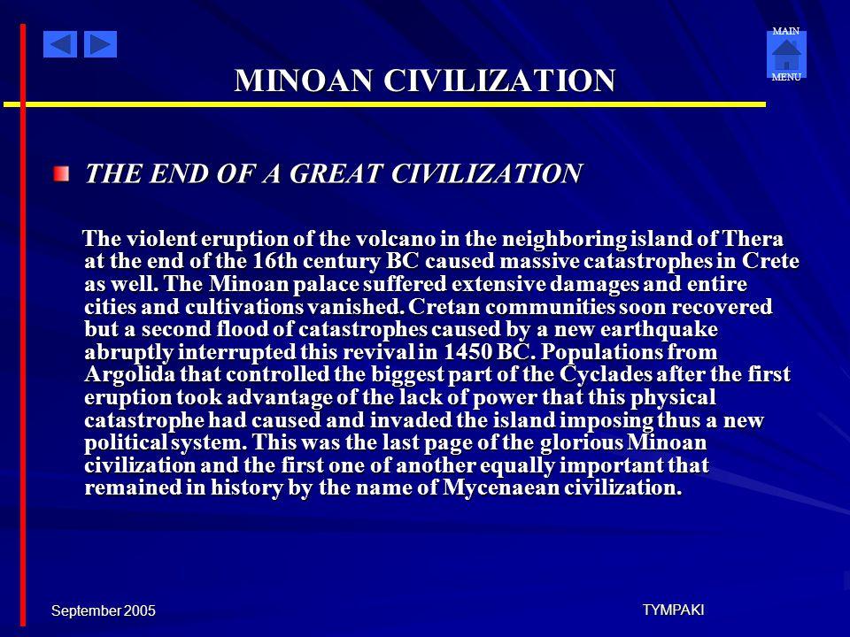 MINOAN CIVILIZATION THE END OF A GREAT CIVILIZATION