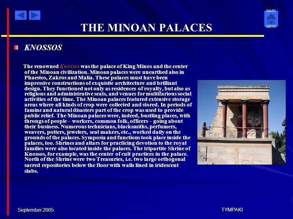 THE MINOAN PALACES KNOSSOS