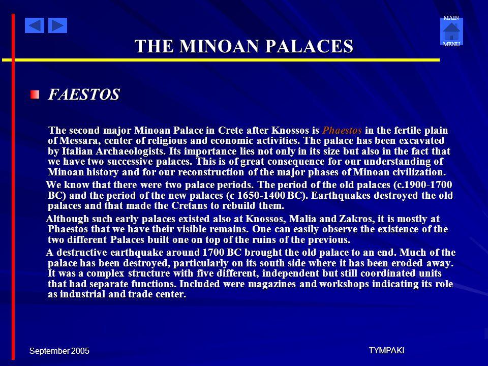 THE MINOAN PALACES FAESTOS