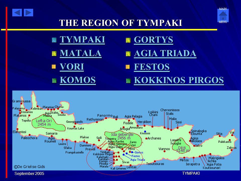 THE REGION OF TYMPAKI TYMPAKI GORTYS MATALA AGIA TRIADA VORI FESTOS